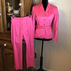 2 piece set hot pink pant suit by Chadwick's sz 4